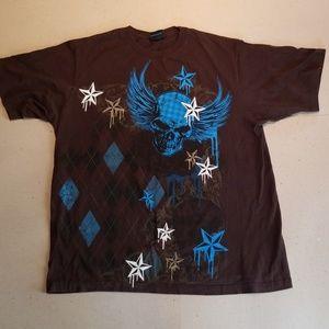 Hybrid brown print tshirt